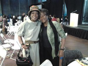 Friends from times gone: Sandra Foster King and Delores Fisher